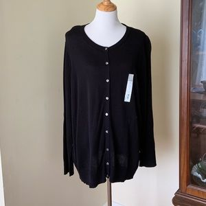 Croft & Barrow modal black cardigan